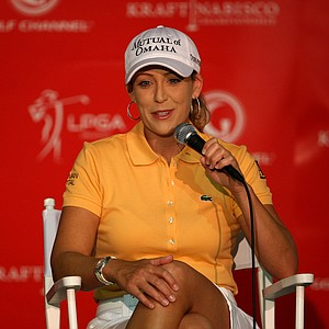Cristie Kerr at a morning press conference Wednesday during the LPGA's first major championship of the year.