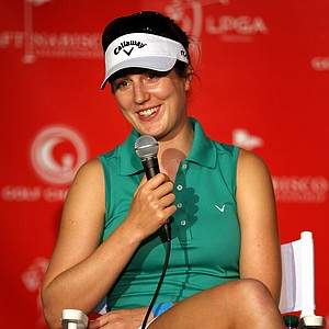 Sandra Gal during her press conference Wednesday. Gal comes into the Kraft Nabisco Championship as a winner from the Kia Classic the week prior.