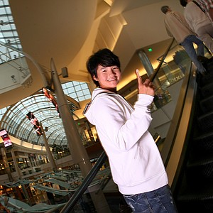 Yani Tseng during her photo shoot at the Mall of Millenia in Orlando, Fla.