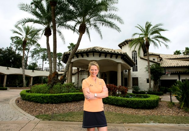 Annika Sorenstam at her home in Lake Nona for Golfweek Style Issue.