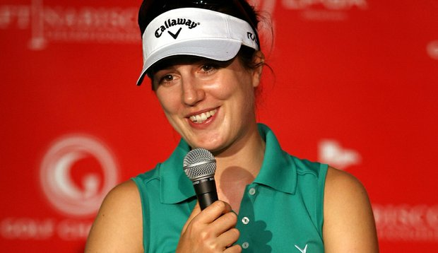 Sandra Gal during her press conference Wednesday at the Kraft Nabisco Championship.