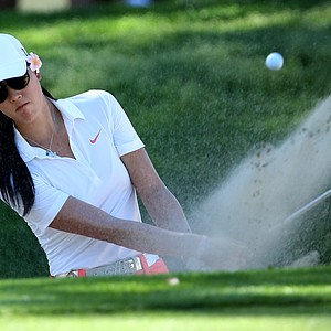 Michelle Wie at No. 17 during the first round. Wie posted an opening round of 74.