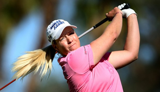 Brittany Lincicome during the first round of the Kraft Nabisco Championship.