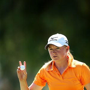 Stacy Lewis during the second round of the Kraft Nabisco Championship, she shot a 69.