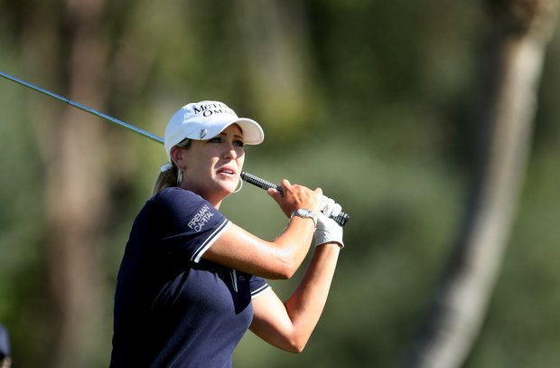 Cristie Kerr during the second round of the Kraft Nabisco Championship.