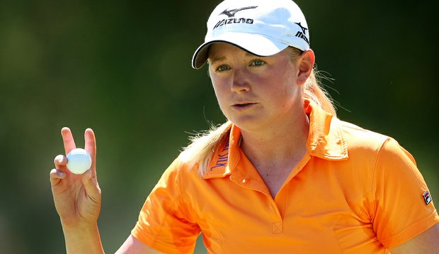 Stacy Lewis during the second round of the Kraft Nabisco Championship.