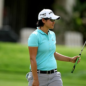 Yani Tseng during the third round of the Kraft Nabisco Championship. Tseng shot a 66 to take the lead into the final round.