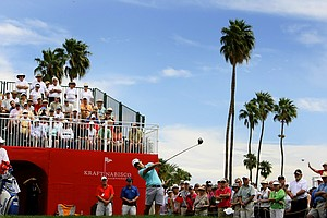 Yani Tseng's drive at No. 1 during the third round of the Kraft Nabisco Championship. Tseng took the lead from Stacy Lewis heading into Sunday.