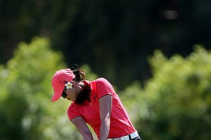 Michelle Wie during the final round of the Kraft Nabisco Championship.