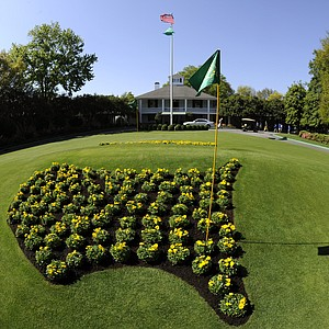 The Augusta National clubhouse during a practice round prior to the 2011 Masters.
