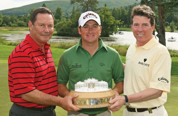 Lyle Anderson (left), shown with Barclays president Bob Diamond (right) and 2010 U.S. Open winner Graeme McDowell.
