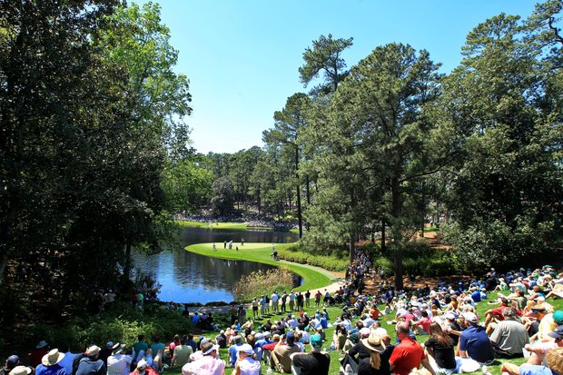 A general view of the play during the Par 3 Contest prior to the 2011 Masters Tournament at Augusta National Golf Club on April 6, 2011 in Augusta, Georgia