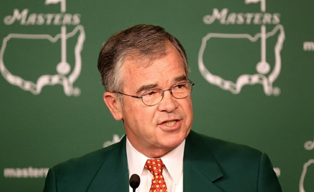 Augusta Chairman Billy Payne during his Wednesday press conference at the Masters.
