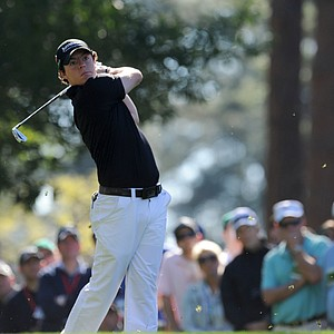 Rory Mcilroy of Northern Ireland hits a tee shot during the first round of the Masters golf tournament at Augusta National Golf Club on April 7, 2011 in Augusta, Georgia.