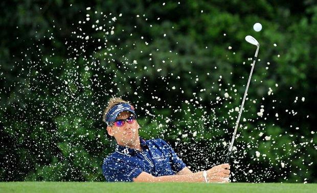 Ian Poulter during the second round of the 2011 Masters.