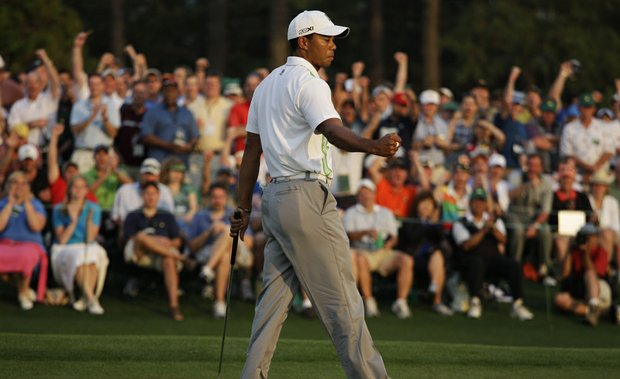 Tiger Woods during Round 2 of the Masters.