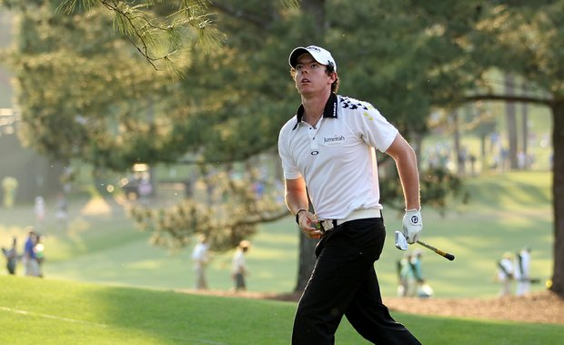 Rory McIlroy watches his approach shot on the 17th hole during the third round of the 2011 Masters.