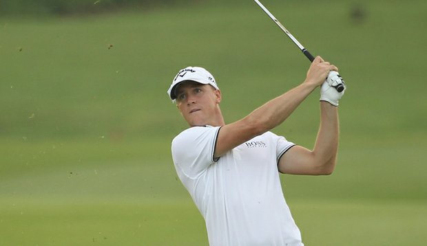 Alexander Noren in action during the first round of the Maybank Malaysian Open.
