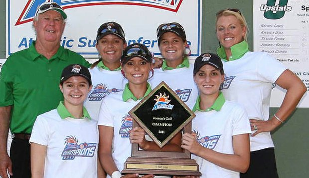 The Stetson women's golf team after winning the Atlantic Sun Conference Championship.