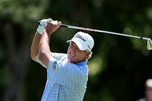 Russ Cochran made a double and triple bogey on the back nine to finish T3.