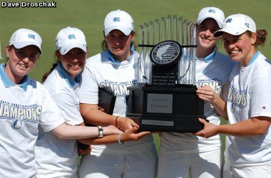 The North Carolina women's golf team after winning the ACC Championship.