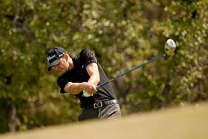 Brendan Steele during the final round of the Valero Texas Open.