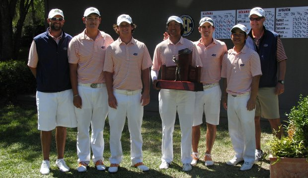 The Florida men's golf team after winning the SEC Championship.