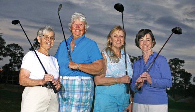 From left: Nancy Newberry, Gail Brown, Karen Smith and Helen Ferneyhough have been playing the Harder Hall for decades.