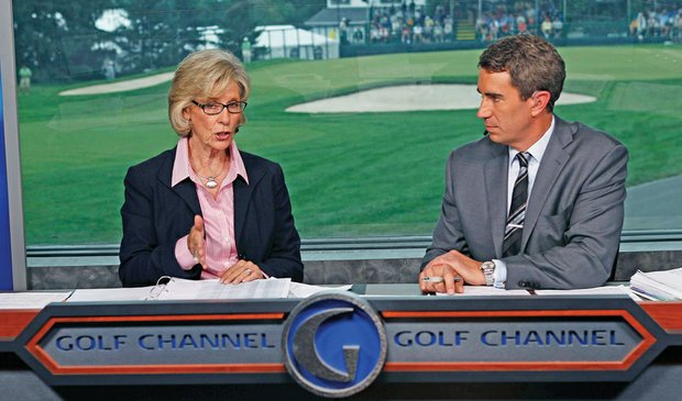 Judy Rankin on the Golf Channel set