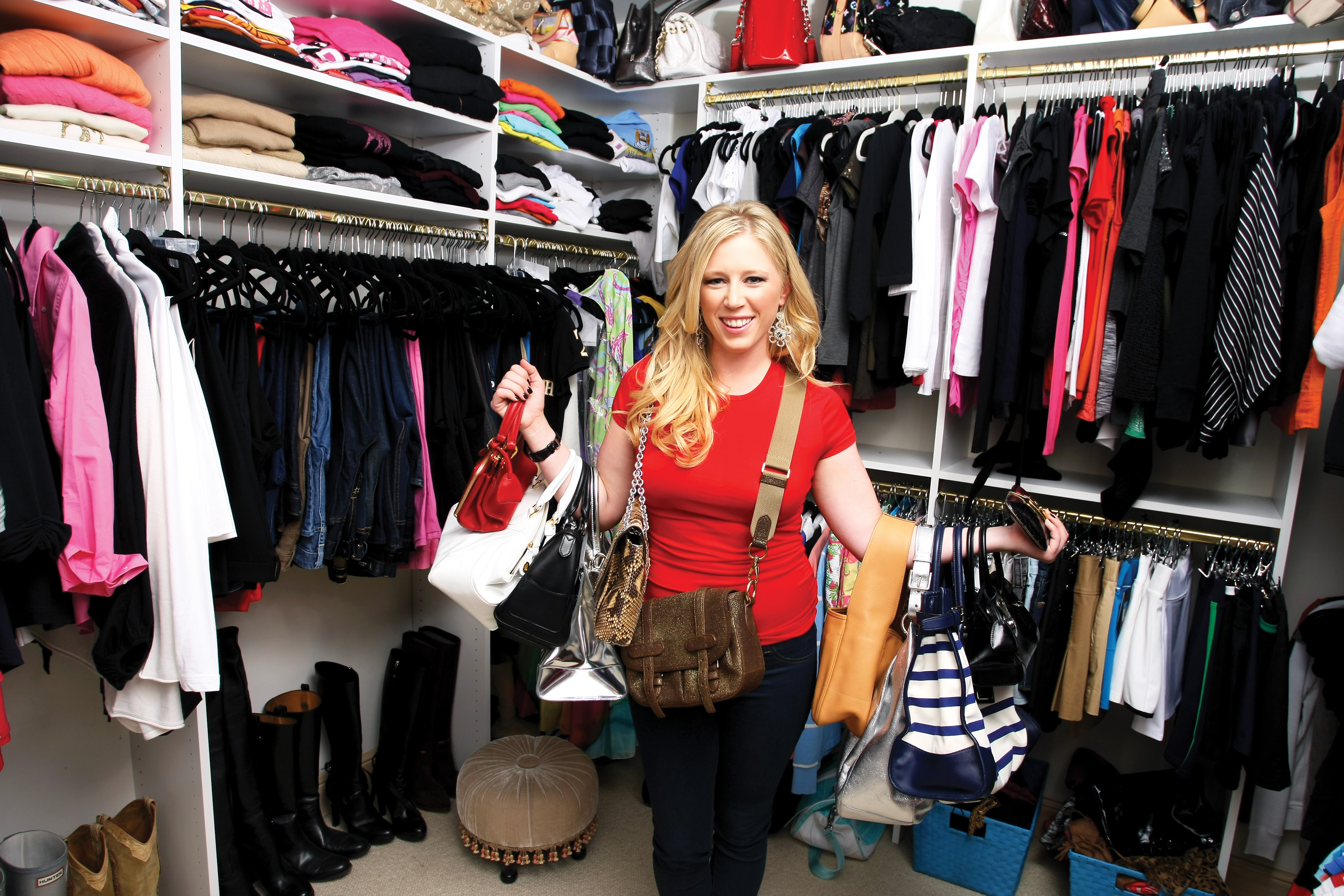 Morgan Pressel, at home in her closet.