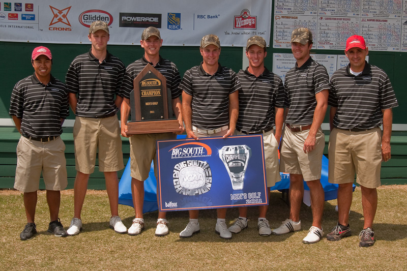 Liberty after winning the Big South Conference Championship by 31 shots.