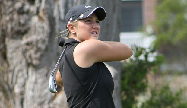 Taelor Rubin during the qualifying round of the Palmetto High School Championship.