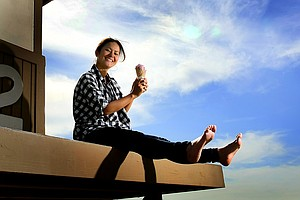 Ai Miyazato during her Golfweek For Her photoshoot in early 2011.