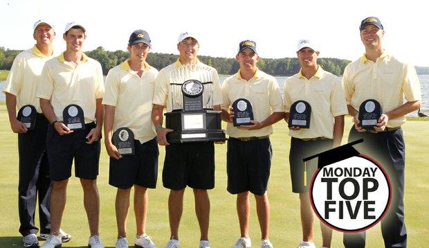 The Georgia Tech men's golf team after winning the ACC Championship.