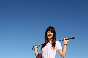 11/24/09--LPGA player Michelle Wie at Bighorn Country Club in Palm Desert, Calif.