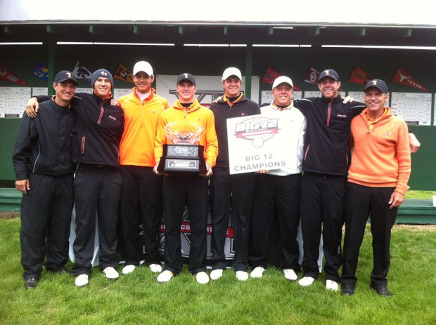 Oklahoma State after winning its fifth consecutive Big 12 Conference Championship.
