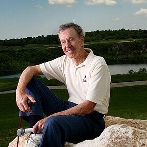 Dave Ragaini, Golfweek's Local Legend, poses near a scenic spot on his home course Black Diamond Ranch, in Lecanto, Fla.