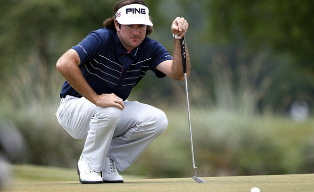 Bubba Watson during the final round of the Zurich Classic.