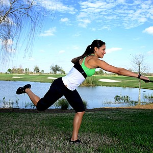 BACK: Improving rotation  Make it harder: After taking your lunge stance, lift your back leg off the floor and balance on one leg.
