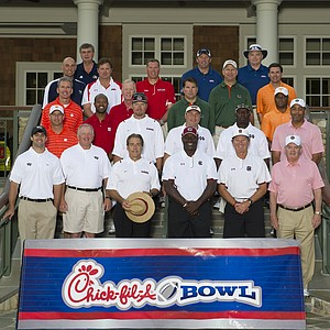 The field at the Chick-fil-A Bowl Challenge in Greensboro, Ga.