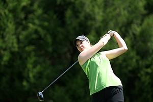 Christine Meier of Michigan State. Meier posted a 73 in the first round.