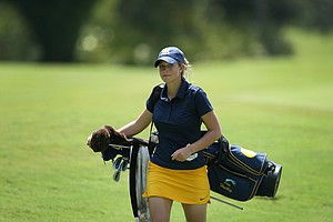 California's Pia Halbig during the Women's NCAA East Regionals. Halbig shot a opening round 73.