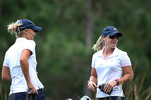 LPGA player, Kristy McPherson, is acting as assistant coach for Augusta State during the Women's NCAA East Regionals. McPherson's brother, Kevin is the head coach.
