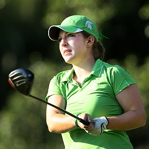 Michigan State's Caroline Powers beat Florida State's Maria Salinas in a playoff for the individual spot in the NCAA Championship.