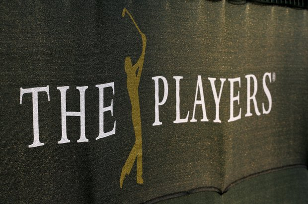THE PLAYERS tournament logo on a windscreen during the second day of practice for the THE PLAYERS Championship on THE PLAYERS Stadium Course at TPC Sawgrass on May 6, 2008 in Ponte Vedra Beach, Florida.