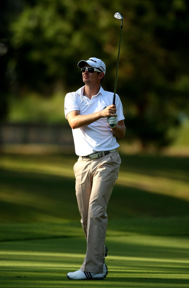 Justin Rose of England in action during a practice round prior to the start of THE PLAYERS on the Stadium Course at TPC Sawgrass on May 5, 2009 in Ponte Vedra Beach, Florida.