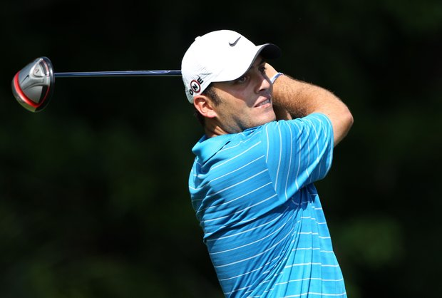Francesco Molinari of Italy hits a tee shot on the seventh hole during the second round of THE PLAYERS Championship held at THE PLAYERS Stadium course at TPC Sawgrass on May 7, 2010 in Ponte Vedra Beach, Florida.