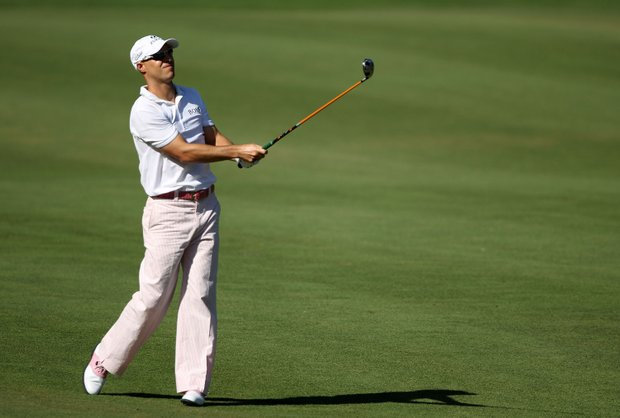 Ben Crane plays a fairway shot during the final round of THE PLAYERS Championship held at THE PLAYERS Stadium course at TPC Sawgrass on May 9, 2010 in Ponte Vedra Beach, Florida.