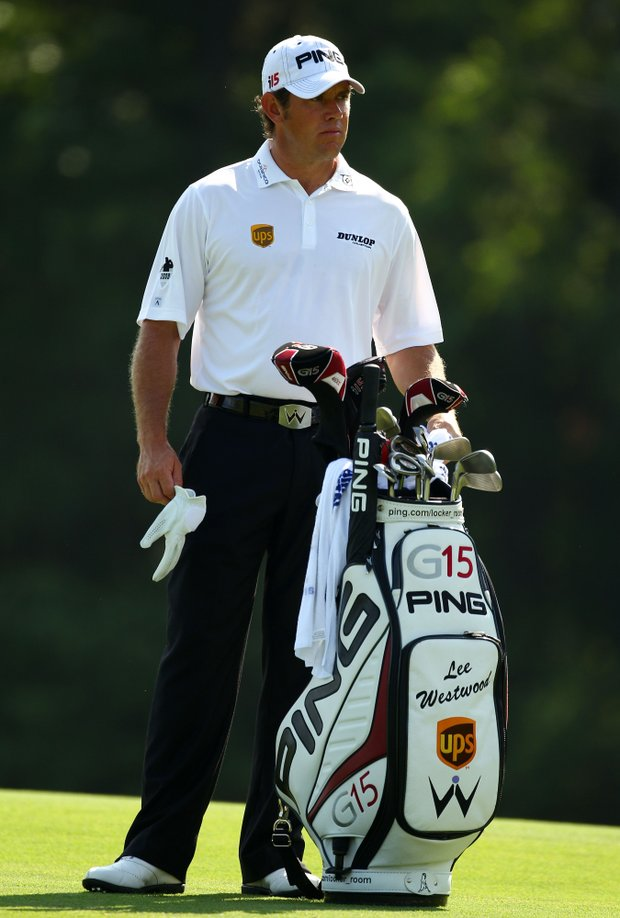 Lee Westwood of England waits on the 14th fairway during the second round of THE PLAYERS Championship held at THE PLAYERS Stadium course at TPC Sawgrass on May 7, 2010 in Ponte Vedra Beach, Florida.