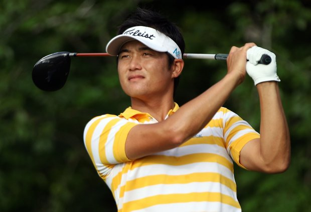 Ryuji Imada of Japan hits his tee shot on the fifth hole during the second round of THE PLAYERS Championship held at THE PLAYERS Stadium course at TPC Sawgrass on May 7, 2010 in Ponte Vedra Beach, Florida.